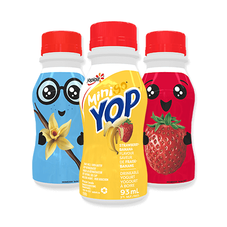 3 bottles of Mini Yop